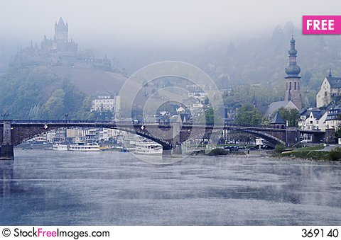 Castle at Cochem on Mosel River, Germany Stock Photo