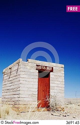 Free Abandoned Bus Stop In Namib Desert, Namibia Royalty Free Stock Photo - 369145