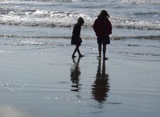 Free Beach Sisters Stock Photography - 360282