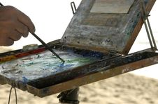 Free Painting At The Beach Royalty Free Stock Image - 360496