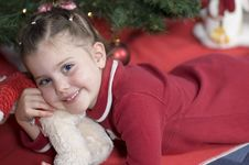 Free Sweet Girl At Christmas Time Royalty Free Stock Photo - 361655
