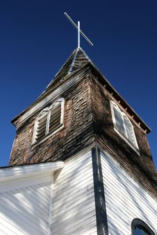 Free Old Small Town Church Royalty Free Stock Images - 362639