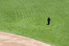 Free Umpire On The Field Royalty Free Stock Image - 363706
