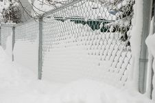 Free Icy Fence Royalty Free Stock Photo - 368485
