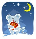 Free Mouse And Present Royalty Free Stock Image - 3604506