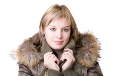 The Young Girl In A Jacket Royalty Free Stock Image
