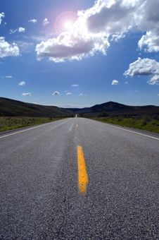 Free Country Roadway Royalty Free Stock Photo - 3600695