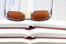 Free Glasses On Books Stock Image - 3600841