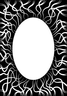 Free Black Frame With White Lines Royalty Free Stock Photography - 3605277
