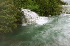 Free Waterfall With Moving Water Stock Photo - 3605650