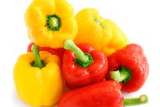 Free Pile Of Red And Yellow Paprika Royalty Free Stock Photography - 3605777