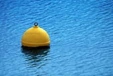 Free Yellow Buoy On Blue Sea Stock Photos - 3606063