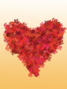 Free Heart From Red Foliage Royalty Free Stock Image - 3607146