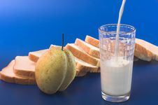 Free Milk Pour Into A Glass Stock Images - 3607724
