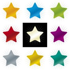 Free Color Stars (vector) Stock Photography - 3608612