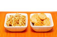 Free Two Bowls With Snacks Royalty Free Stock Photos - 3608798