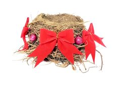 Free Bird Nest In X-mas Decor Stock Images - 3608814