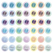 Free Buttons With AT-icon Stock Photos - 3609413