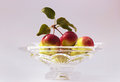 Free Crabapples In A Glass Bowl Royalty Free Stock Photography - 36006467
