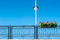 Free Streetlight And Pot With Beautiful Flowers Royalty Free Stock Image - 36009606