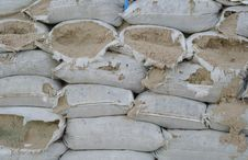 Free Bunkers Made Of Sandbags Stock Image - 36002731
