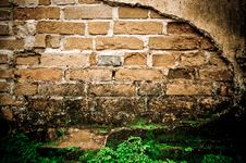 Free Grunge Wall Of The Old House. Royalty Free Stock Images - 36002809