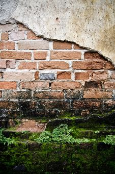Free Grunge Wall Of The Old House. Stock Photo - 36002810