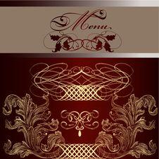 Menu Design  In Vintage Style Stock Image