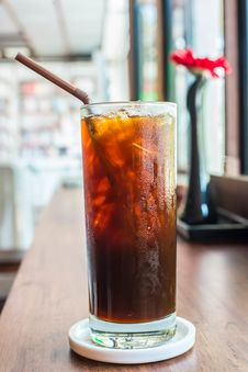 Free Iced Black Coffee Stock Images - 36004704