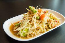 Free Green Papaya Salad Royalty Free Stock Image - 36004826