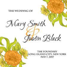 Free Wedding Card Royalty Free Stock Photography - 36005827