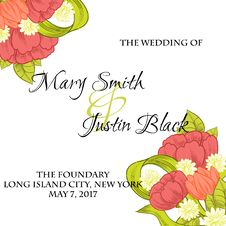 Free Wedding Card Royalty Free Stock Images - 36005839
