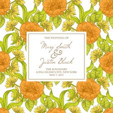 Free Wedding Card Royalty Free Stock Photography - 36006027