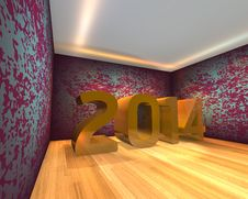 Free Happy New Year - 2014 Royalty Free Stock Image - 36006076