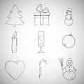 Free Collection Of Christmas Icons/objects Stock Images - 36011424