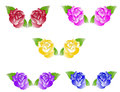 Free Five Duets Of Roses Stock Images - 36012994