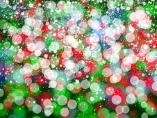 Free Christmas Colorful Lights Royalty Free Stock Photo - 36011235