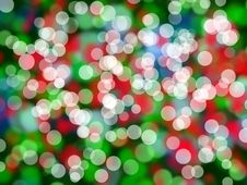 Christmas Colorful Lights Royalty Free Stock Photography