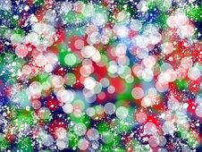 Christmas Colorful Lights Stock Images