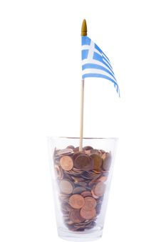 Free The Greek Flag Stock Photography - 36011502