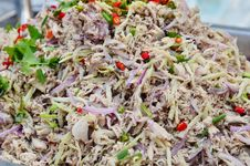 Free Thai Mackerel Salad Royalty Free Stock Photos - 36012538