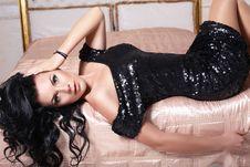 Free Beautiful Girl In Black Dress Stock Photos - 36014773
