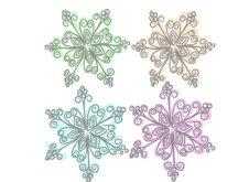 Free Painted Snowflake Royalty Free Stock Photos - 36018588