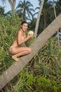 Free Girl With Coconut Royalty Free Stock Photo - 36020605