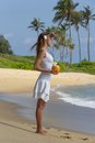 Free Girl With Coconut Cocktail Stock Photos - 36020623