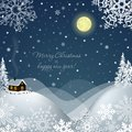 Free Winter Landscape With A House. Vector Illustration Stock Photography - 36022822