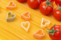 Free Spaghetti And Pasta In The Form Of Heart, Close-up Stock Photo - 36027390
