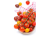 Free Assorted Cherry Tomatoes In Wooden Bowl, Isolated Stock Photos - 36027993
