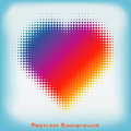 Free Gradient Colorful Heart Halftone Abstract Background Stock Photo - 36029020