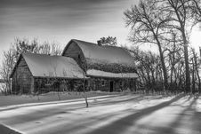 Free Barn In Winter Stock Photos - 36021473